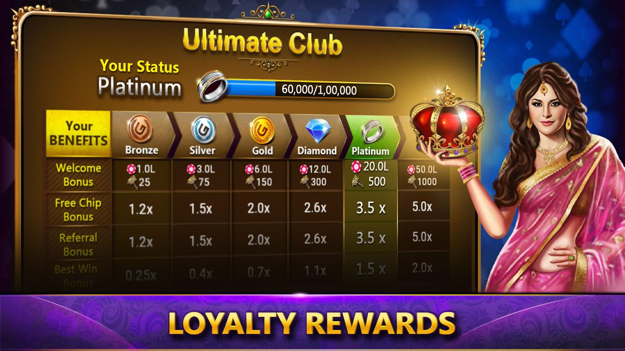 Teen patti - Loyality rewards